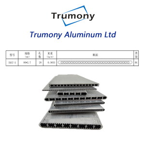 extruded air to water system Aluminium multi channel channel tube