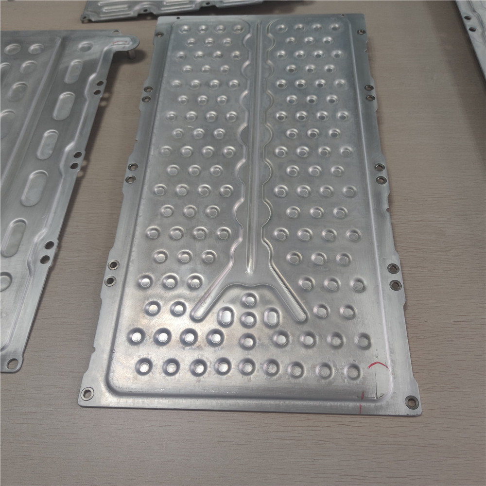 6061 electric car business purpose vehicle water cooling laser cutting 18650 cell battery pack aluminum aluminium plate